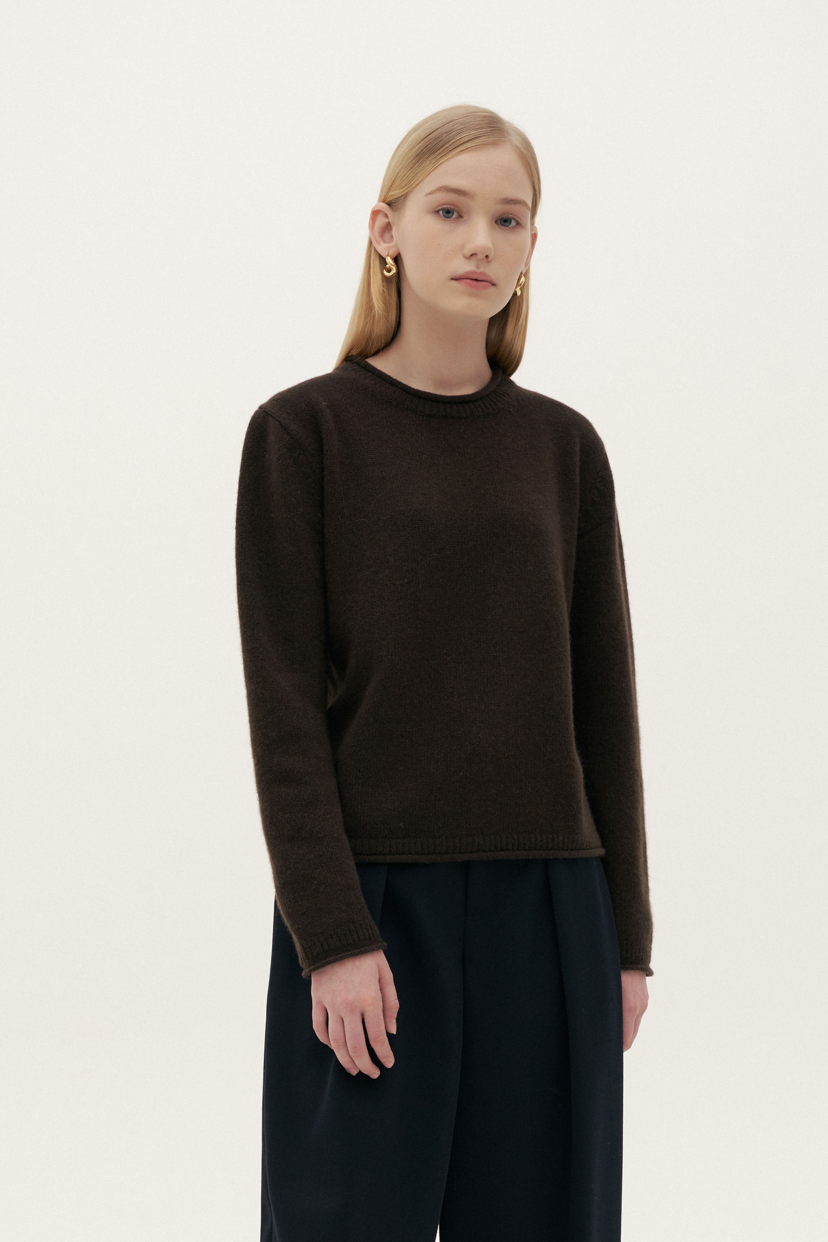 CASHMERE ROLL KNIT