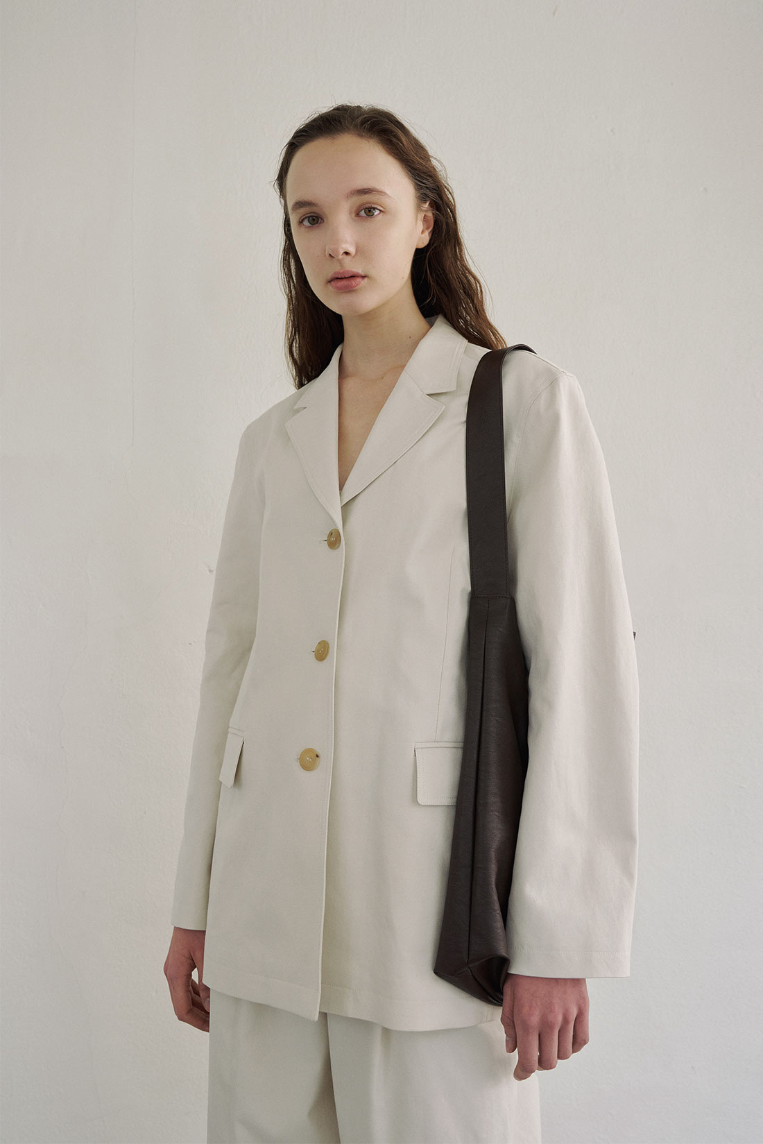 Neat Cotton Jacket(ivory)