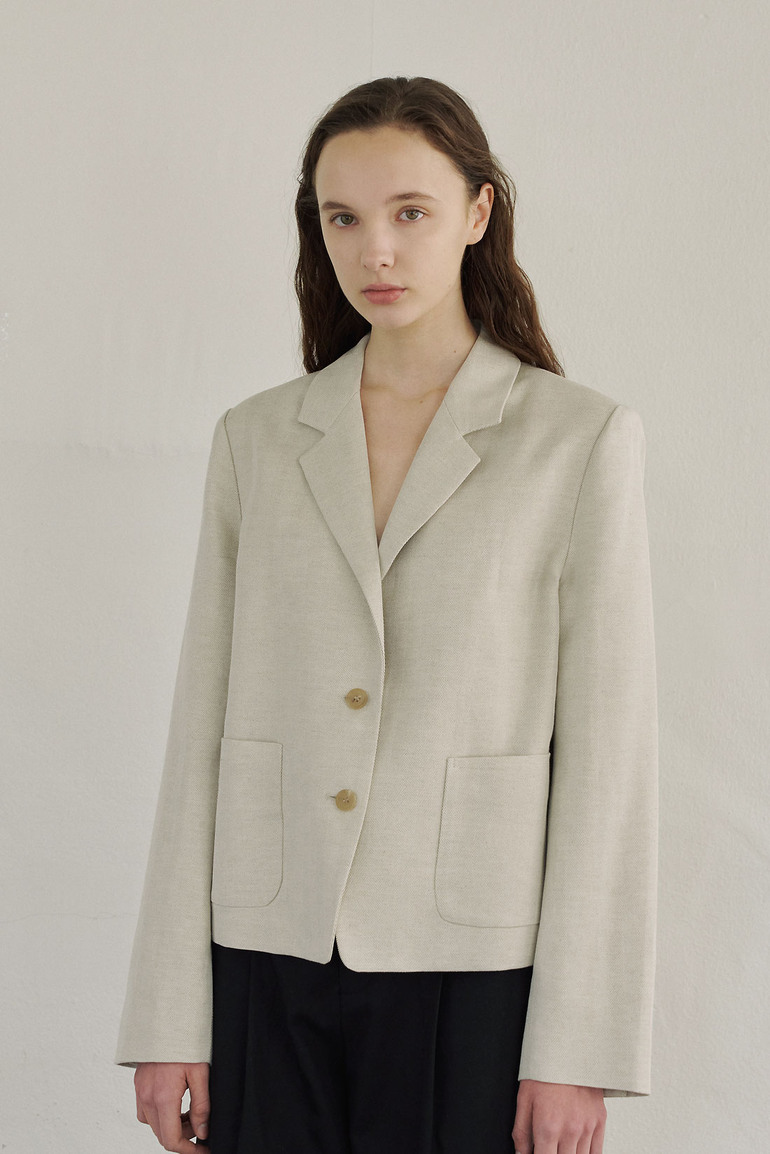 Bout Linen Jacket(Natural)Reorder